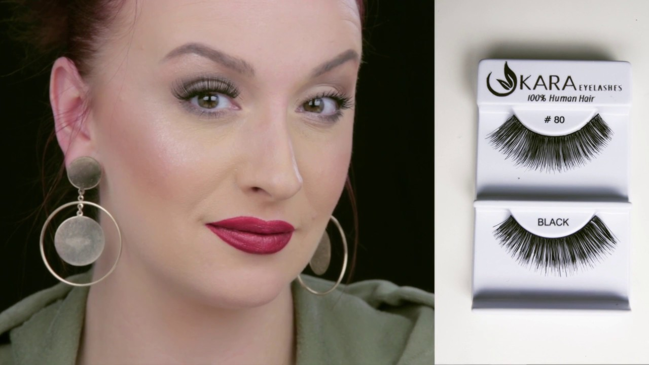 565e841be3c 28 eyelashes try on 100% human hair by KARA - YouTube