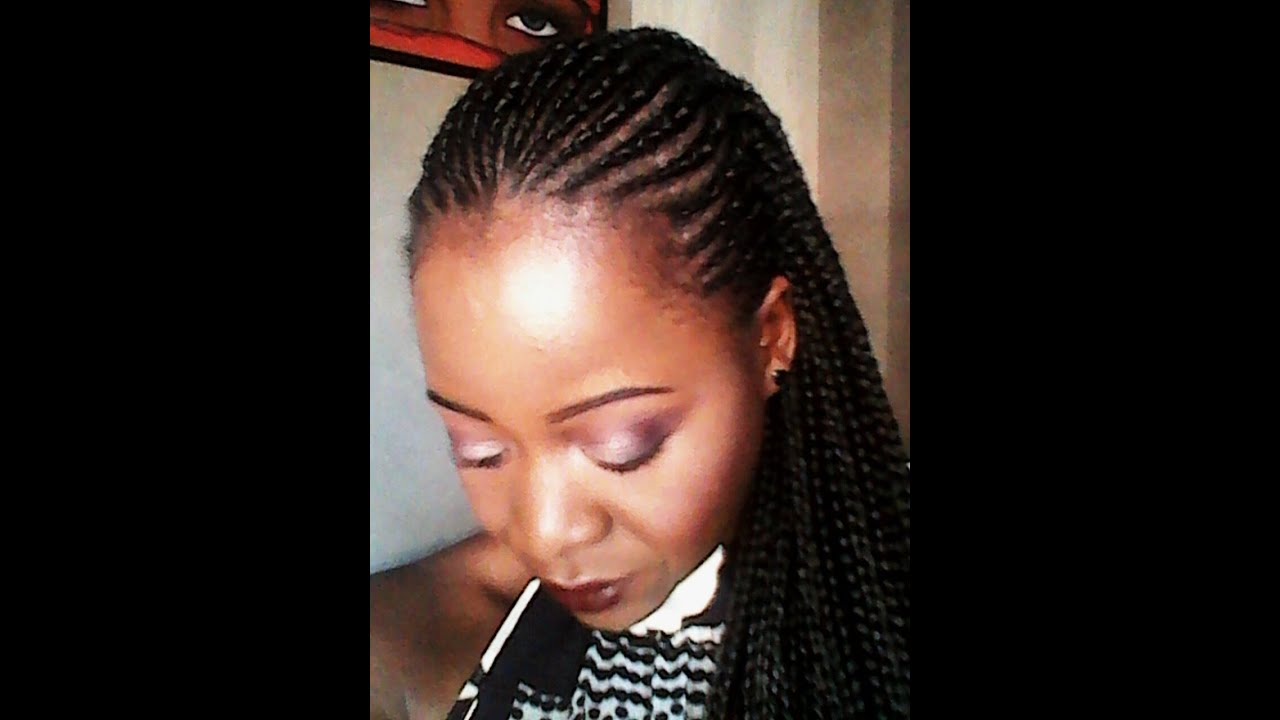 Diy ghana braids tresses afro cheveux courts et cr pus youtube - Tresse africaine femme ...