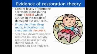Restoration and survival theories of sleep - VCE U3 Psychology
