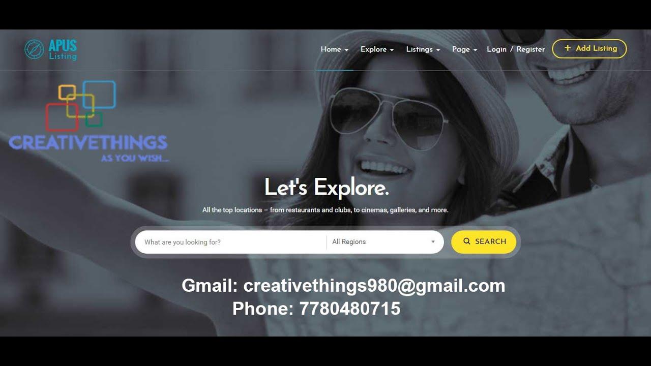 ApusListing - Directory Listing WordPress Theme - YouTube