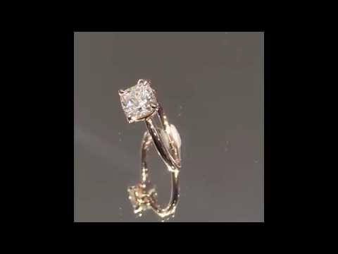 1.22 ct Cushion Diamond Custom Engagement Ring in Rose Gold