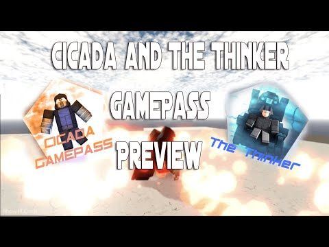 Cicada & The Thinker GamePass Preview (Roblox - CW Industries