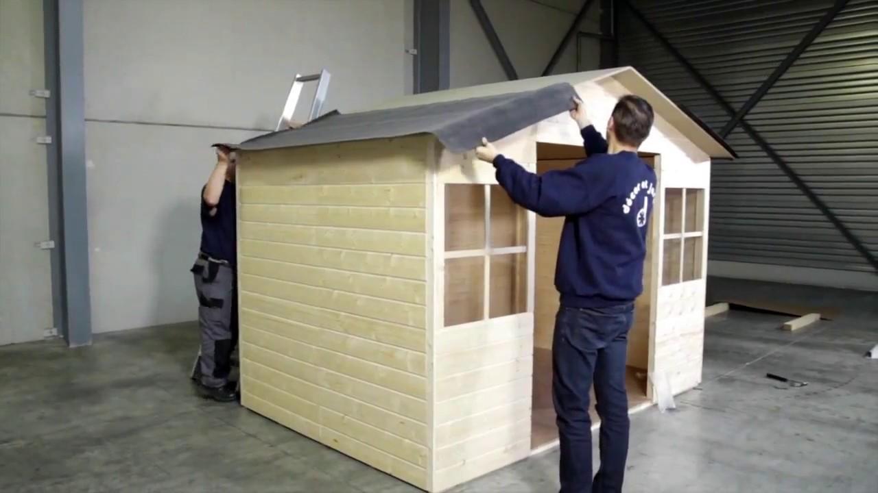 Como instalar la tela asf ltica de una caseta de madera for Tela asfaltica para tejados de madera
