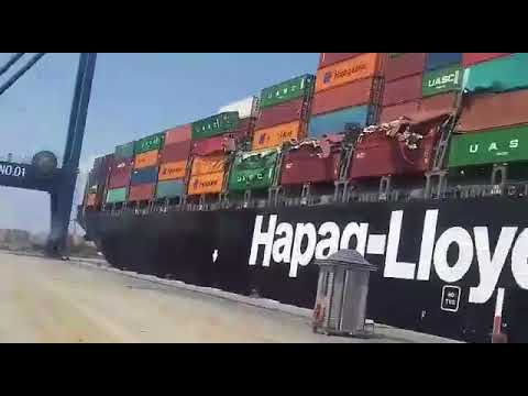 Containers Being Retrieved After Karachi Ship Collision