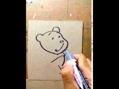วาด หมีพูห์ แบบง่ายๆ