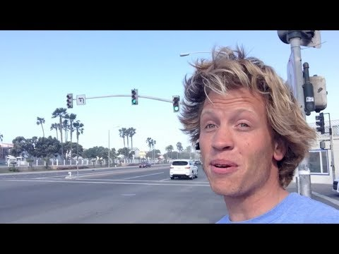 Skateboarding from HB to Newport with a single pump! Over 3.5 miles! Crazy wind!