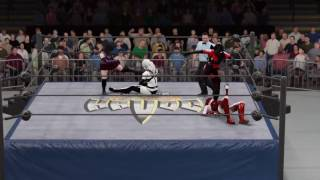 WWE 2K17 Bloodrayne and Cassie Hack vs. Lady Death and Purgatori - Tornado Tag