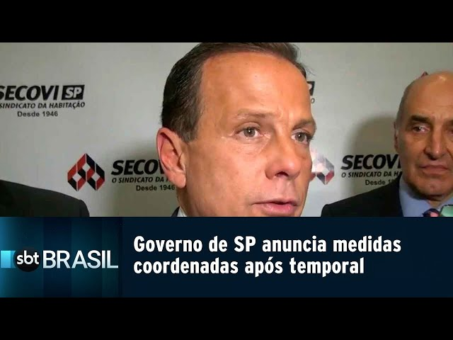 Governo de SP anuncia medidas coordenadas após temporal | SBT Brasil (11/03/19)