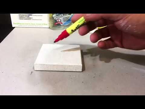 How to Clean White Quartz Caesarstone Countertop - Pen, Grey, Sharpie stains Granite Marble