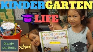 A day in kindergarten School Life - Early childhood Education Last School Day  by Mandy and Bella