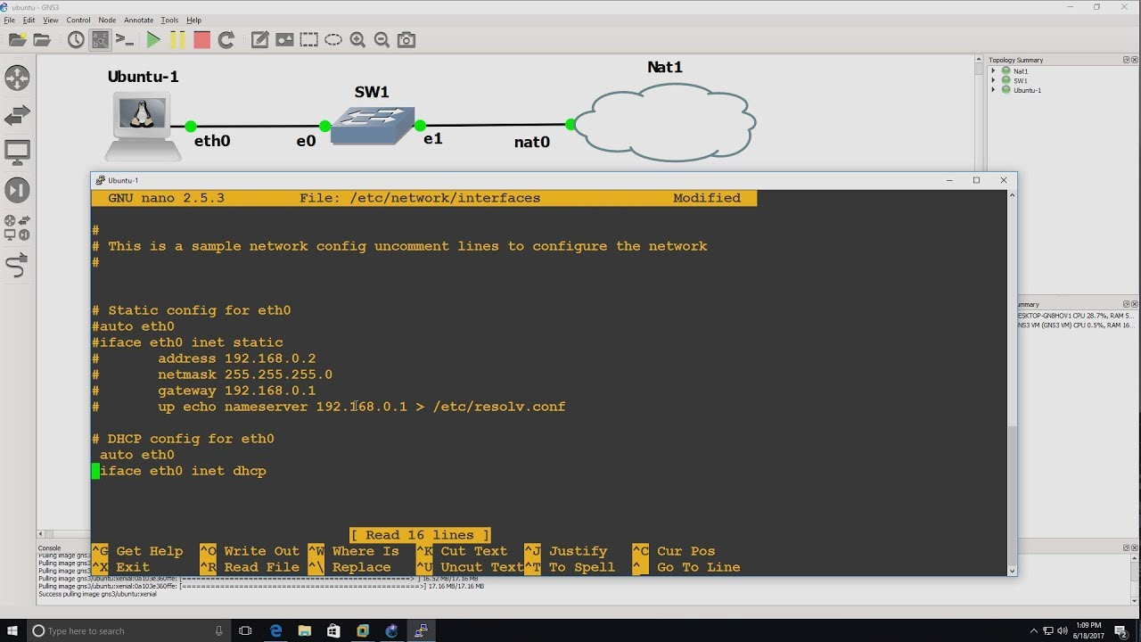 GNS3 Talks: Docker Ubuntu container not getting DHCP IP address (Part 2 -  Windows)  Troubleshooting