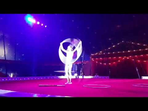 Circus id0208 german wheel, air silk, hula hoop Viniamin 167-64-1977 & Oksana 164-45-1984 Ukraine