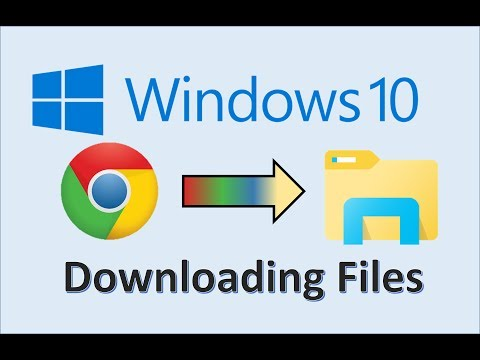 Windows 10 - Downloading Files - How To Download a File on the Internet Google Chrome on Microsoft