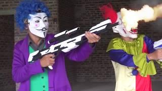 Phim Hành Động Siêu Nhân Người Nhện Hài Hước và Siêu Nhân Gao Bắn Súng Nerf Gun War