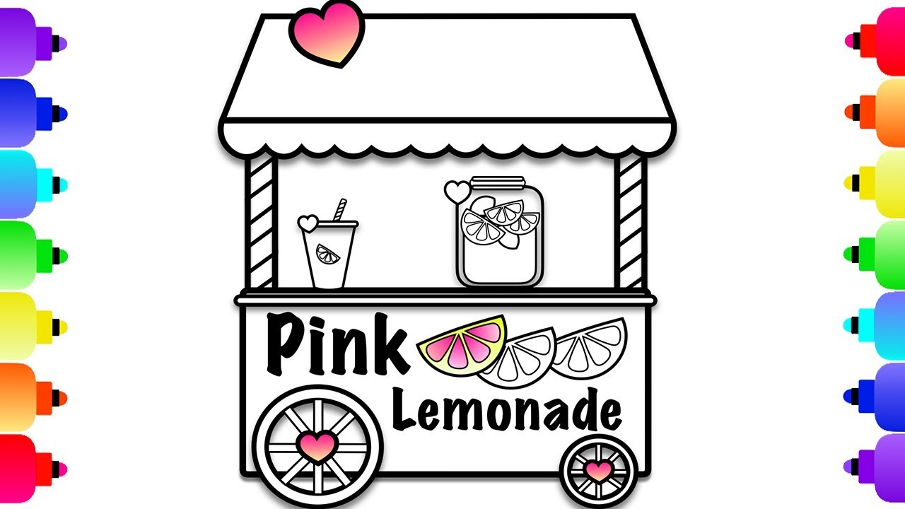 ice cream stand coloring pages - photo#19