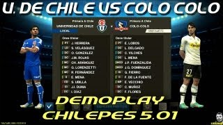 PES 2013: U. de Chile VS Colo Colo / Chilepes patch 5.01