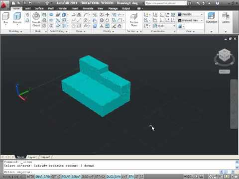 Intro to 3D Solid Modeling in AutoCAD 2011