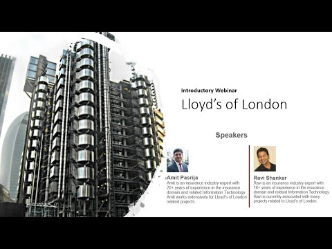Business Analyst Seminar on the Introduction to the Lloyd's of London.