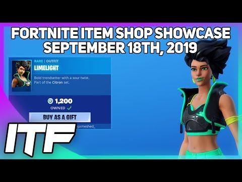 Fortnite Item Shop *NEW* LIMELIGHT SET! [September 18th, 2019] (Fortnite Battle Royale)