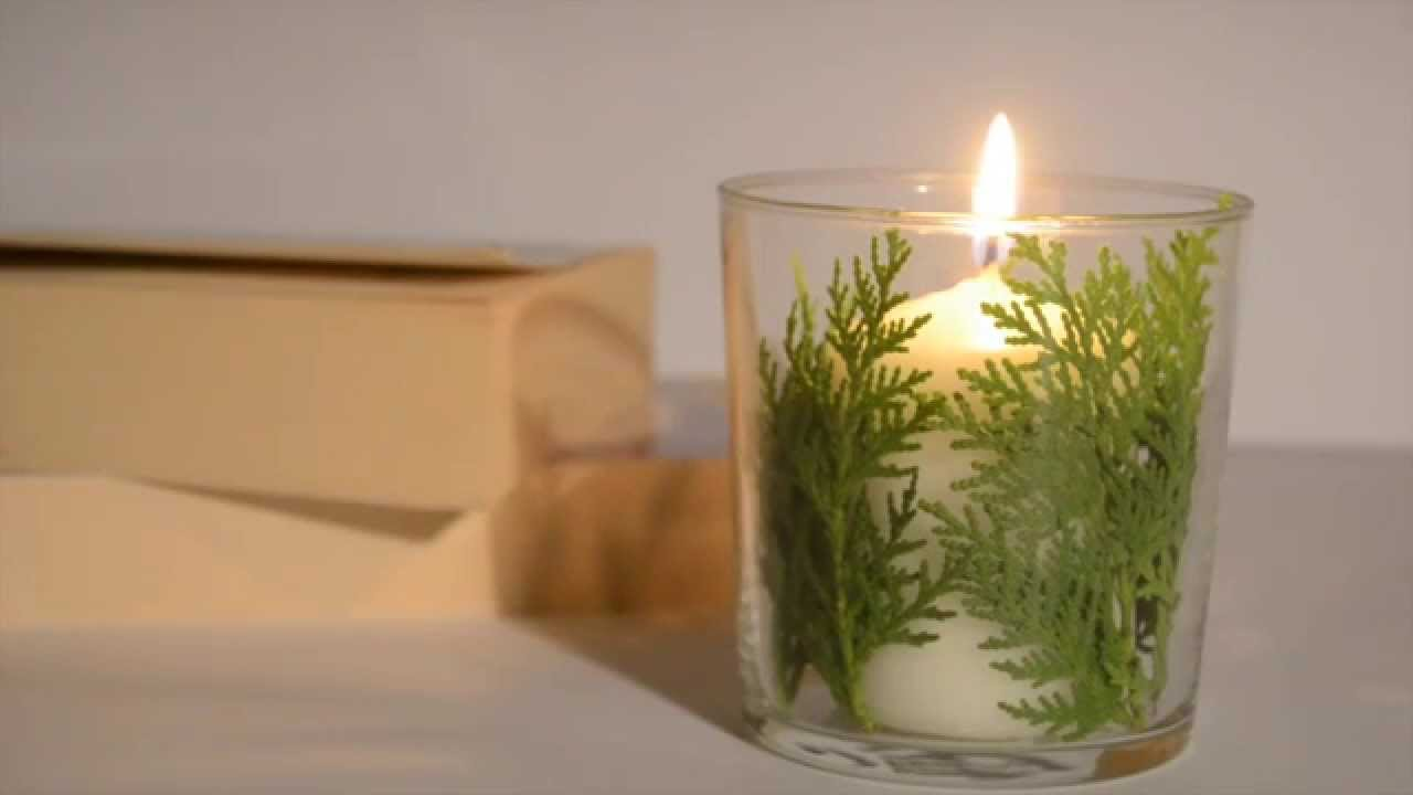 Decoraci n de velas con hojas youtube - Decoracion con velas ...