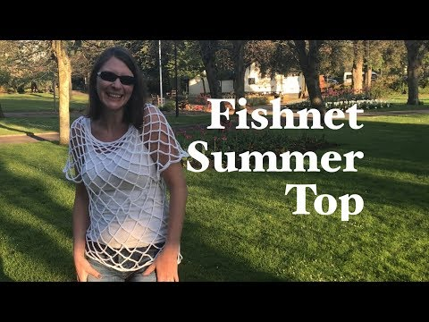 Ophelia Talks About Fishnet Summer Top