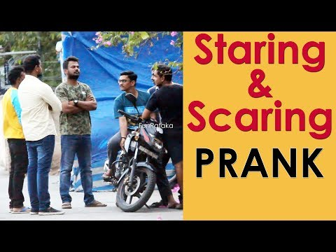 Staring and Scaring People Prank in Telugu   Pranks in Hyderabad 2018   FunPataka