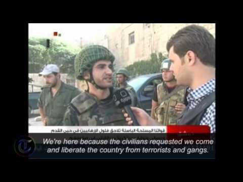 Syria: State TV purports to show Government forces patrolling Damascus