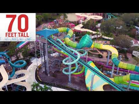 Vanish Point Construction, Drone Footage | Adventure Island Tampa Bay