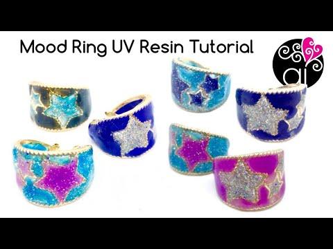 How to Make Mood Ring   UV Resin Tutorial
