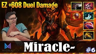 Miracle - Legion Commander Offlane | EZ +608 Duel Damage | Dota 2 Pro MMR Gameplay #6