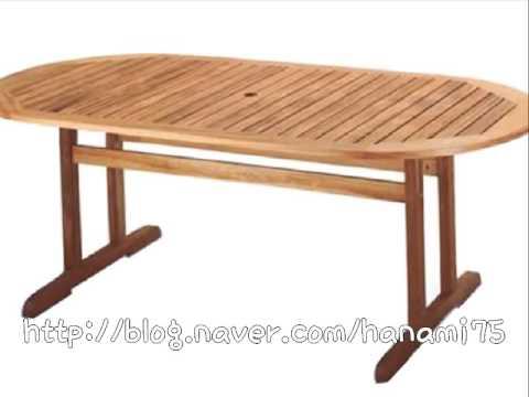 [노아디자인가구] 심플하지만 예쁜 디자인의 방부목 야외 테이블 ...