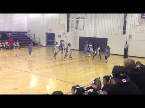Kai Crutchfield - #32- leads East Millbrook Middle School to season opener victory