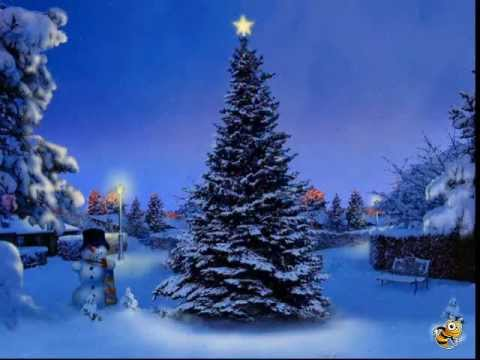 Snow Falling At Night Wallpaper Christmas Tree Screensaver Www Screensaverspc Com Youtube
