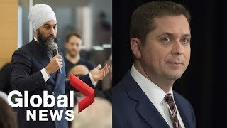 Canada's Opposition leaders react to Trudeau's press conference on SNC-Lavalin