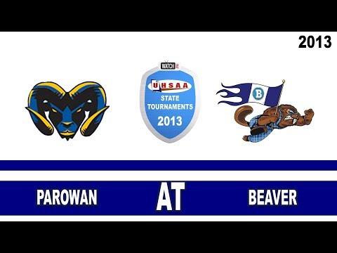2013 2A Football Tournament: Parowan High School @ Beaver High School Utah 11/1/13