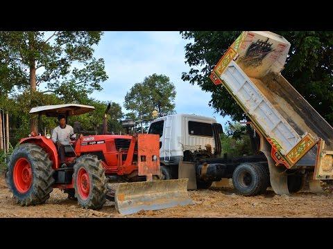รถไถคูโบต้าเกรดดิน รถหกล้อเทดิน ดั้มดินถมที่  KUBOTA M9000 Tractor & Truck Thailand