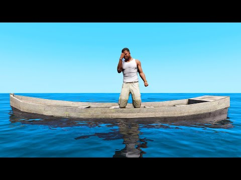 GTA 5 - STRANDED AT SEA! (Find Home) |