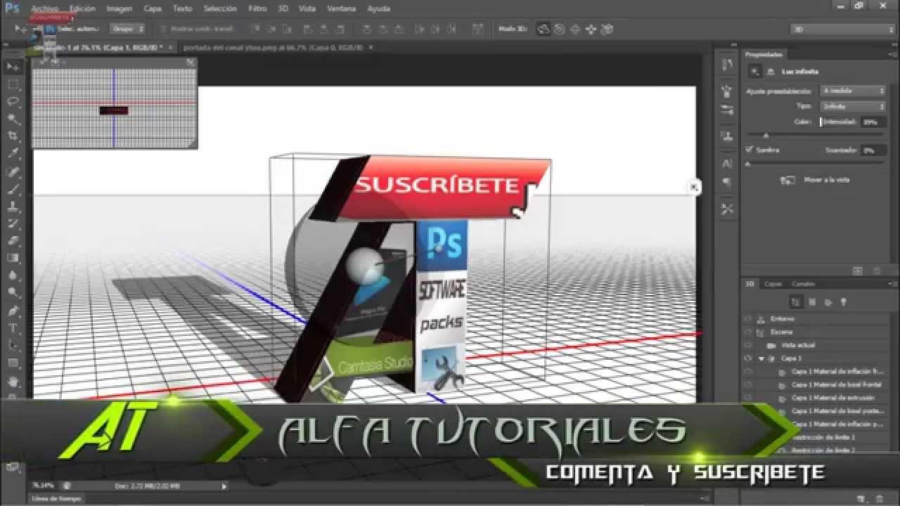 Como crear un efecto 3D con Photoshop CS6
