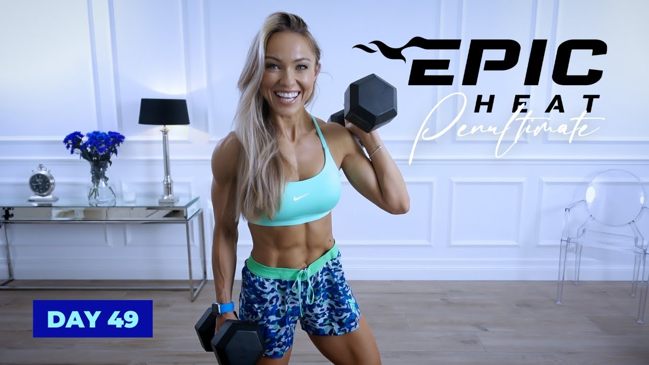 NO FEAR Full Body Workout with Dumbbells - Complexes | EPIC Heat - Day 49