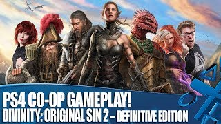 Livestream - Divinity: Original Sin 2 – Definitive Edition PS4 Co-op Gameplay