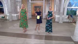Liz Claiborne New York Floral Print Maxi Dress on QVC