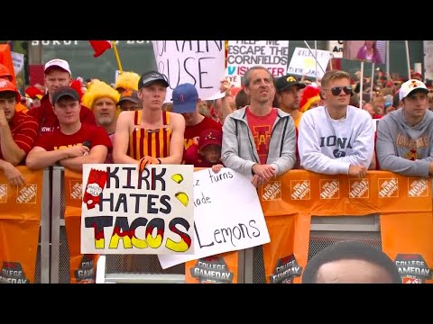 Bama, Rob & Heather - C'mon Get Happy: ISU Football Fan's College GameDay Sign Brings in the $$$