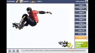 How to Draw Tony Hawk