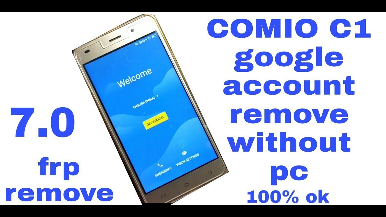 COMIO C1 Frp Unlock without pc 100% ok