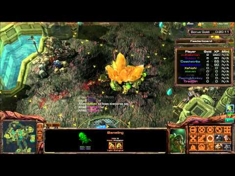 Starcraft 2-Island Defence Banegling Gameplay