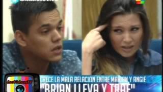 Fuerte enfrentamiento entre Angie Brian y Marian parte 1 GH 2015