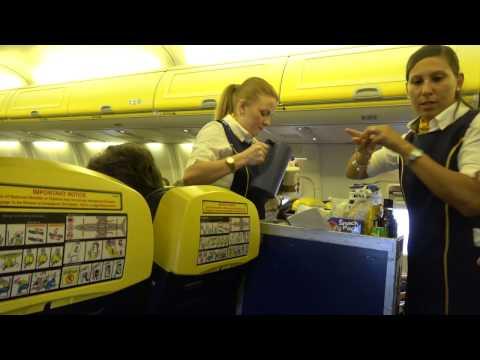 Bournemouth To Murcia Take Off, In Flight and Hard Landing. Ryanair Boeing 737 800