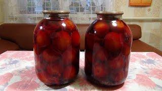 Маринованные помидоры с хреном и свеклой.