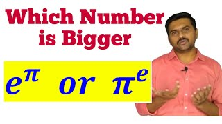 e^pi vs pi^e|e^π vs π^e|proof of e^pi vs pi^e|e power pi or pi power e|e^pi or pi^e bigger