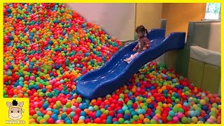 Indoor Playground Fun for Kids and Family Play Rainbow Balls Colors Slide | MariAndKids Toys